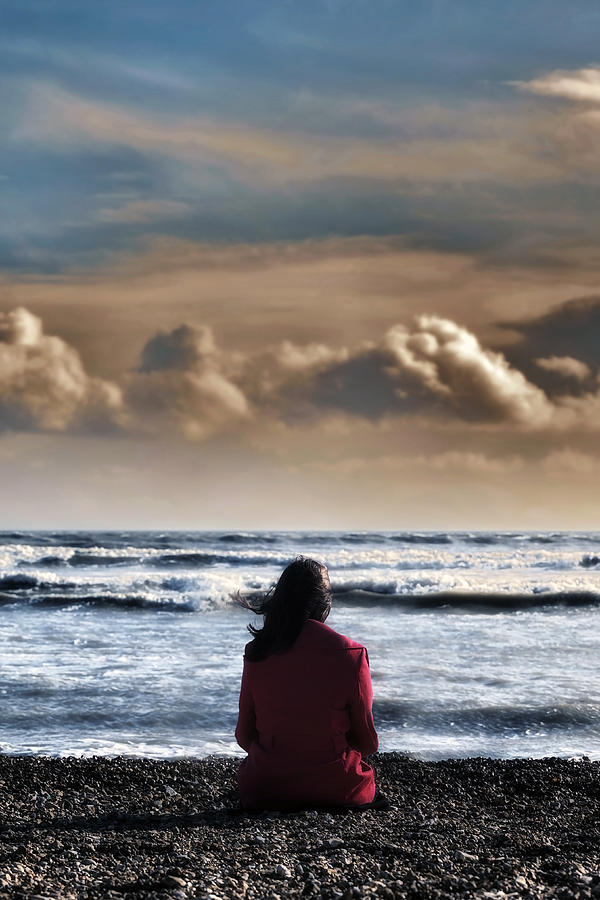 Woman Photograph - Waiting by Joana Kruse