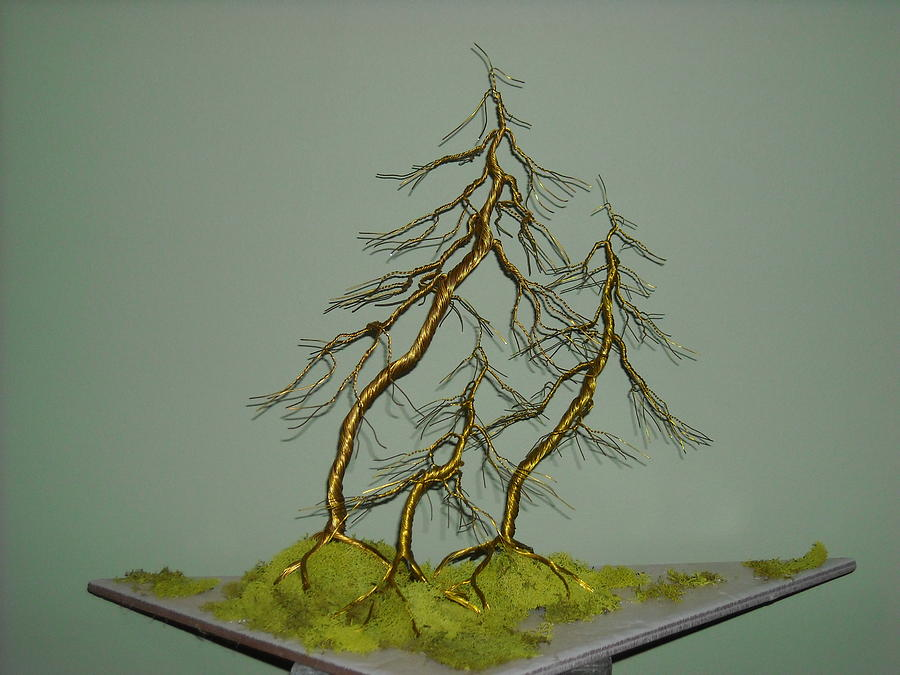 10 We 3 The Family Wire Tree Sculpture Photograph by Ricks Tree Art