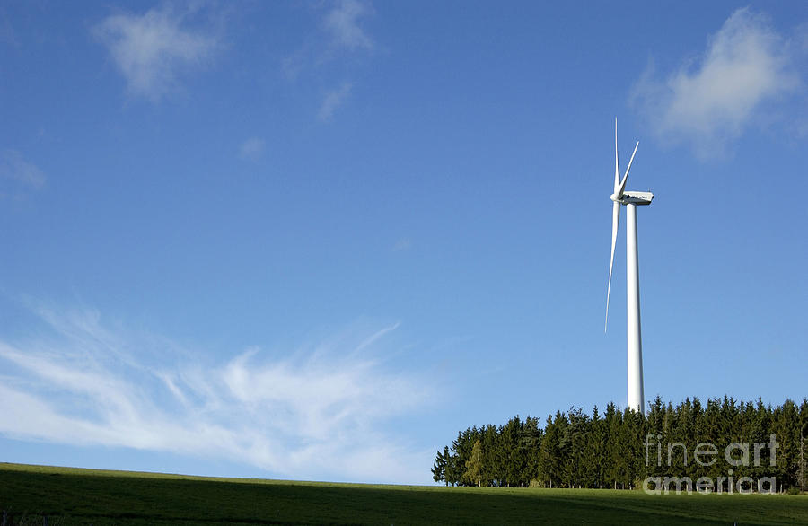 Sky Photograph - Wind Turbine by Bernard Jaubert