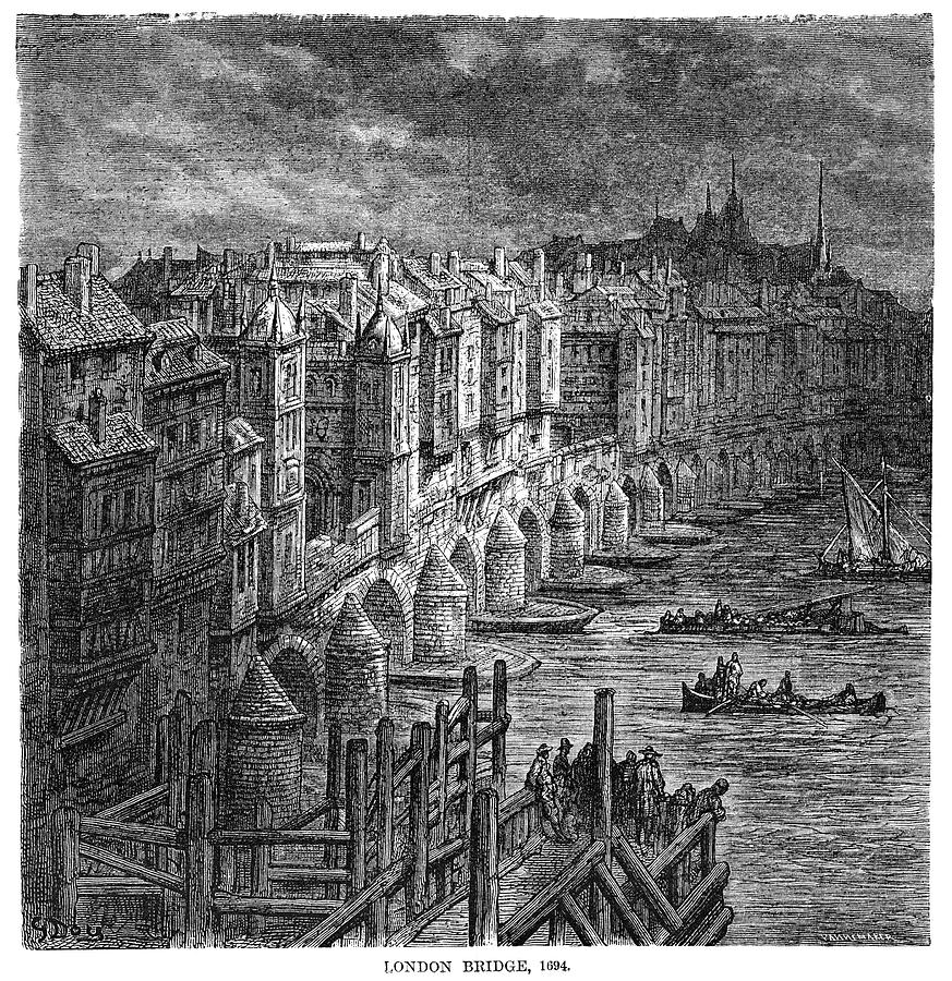 1694 Drawing - London by Gustave Dore
