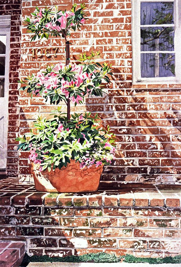 Watercolor Painting - 1067 Azalea Way by David Lloyd Glover