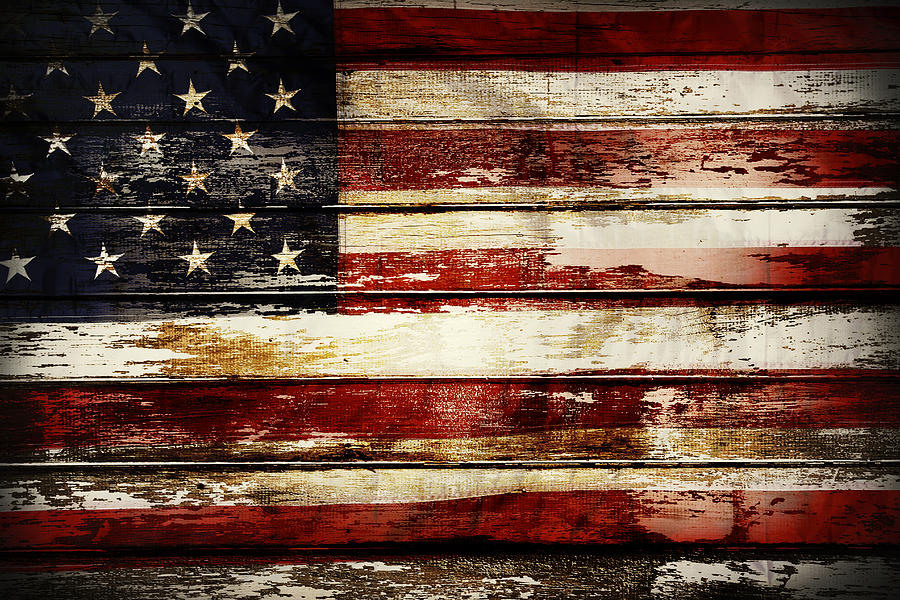 Flag Photograph - American flag 33 by Les Cunliffe