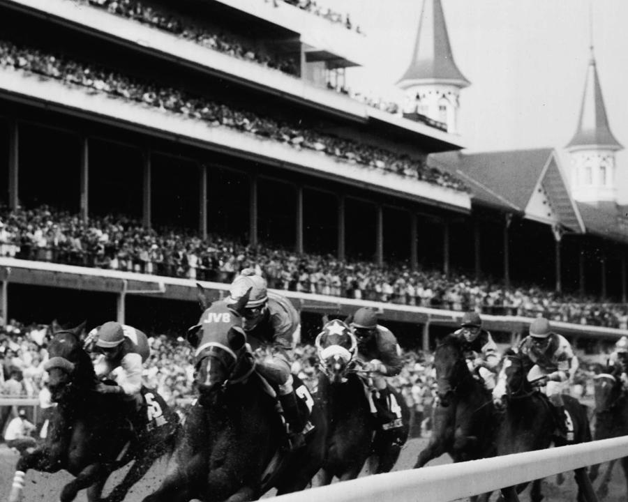 Classic Photograph - Kentucky Derby Horse Racing by Retro Images Archive