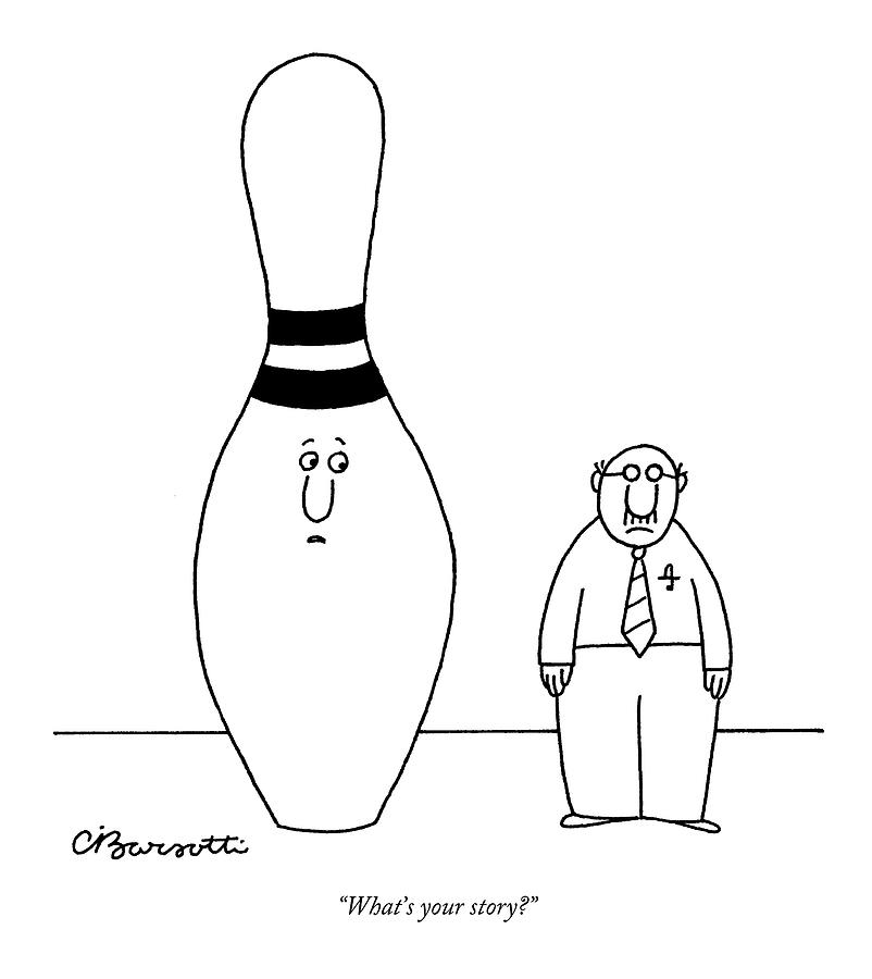 February 27th Drawing - Whats Your Story? by Charles Barsotti