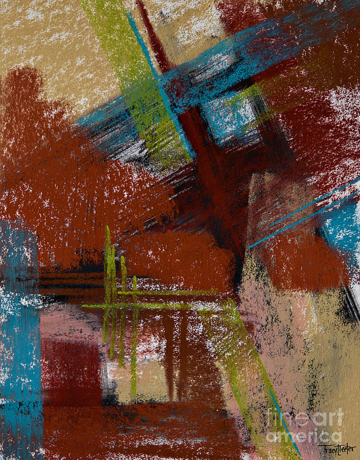 Abstract Pastel - On The Diagonal by Tracy L Teeter
