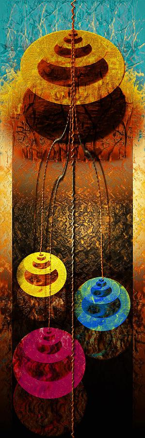 Angel Framed Prints Digital Art - Abstract by Tripti Singh