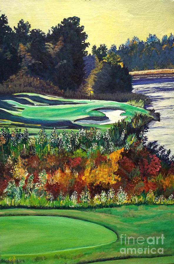 Painting Painting - 11 At Legacy Links by Frank Giordano