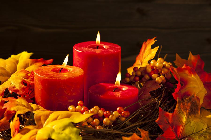 Autumn Candles Photograph