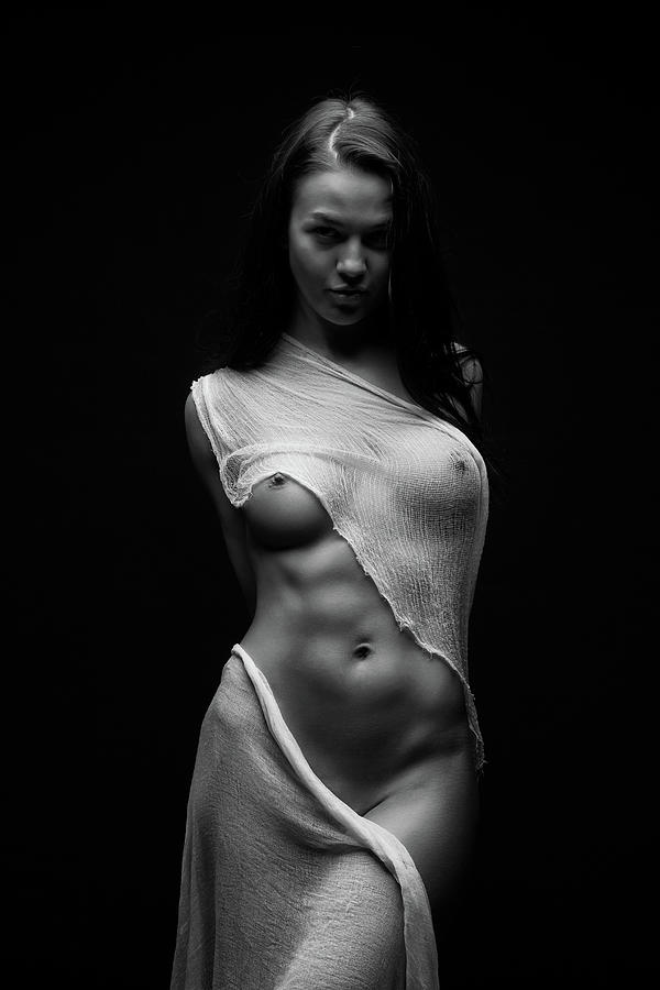 Fine Art Nude Photograph - Black Milk by Anton Belovodchenko