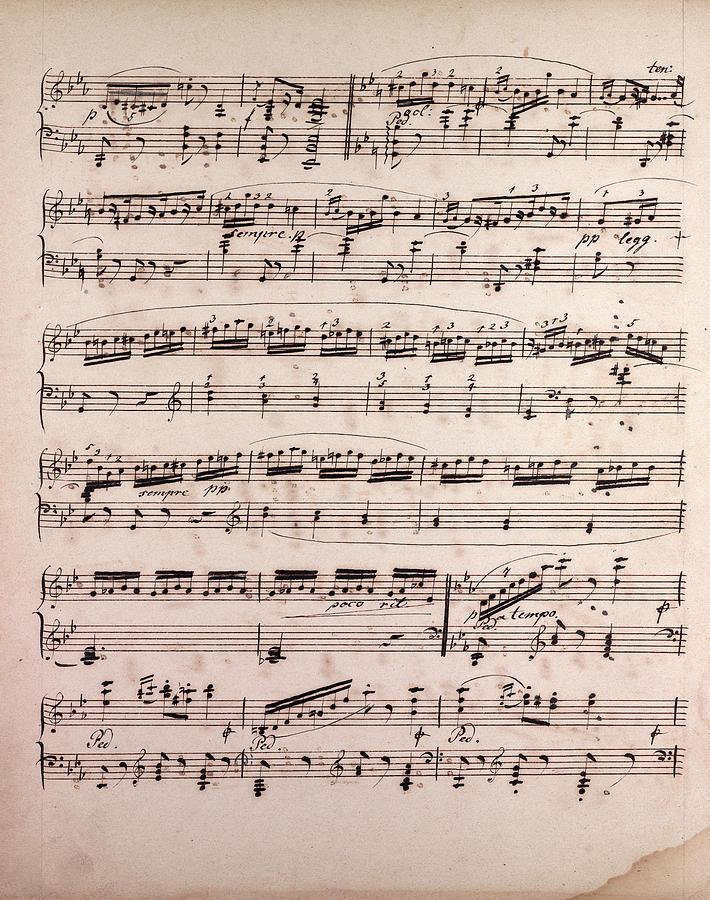 Handwritten Sheet Music, Music Notes