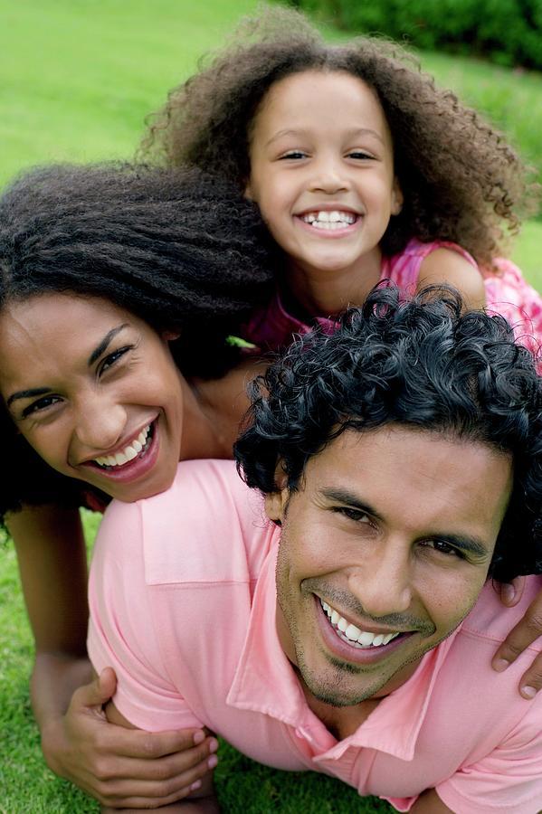 Human Photograph - Happy Family by Ian Hooton/science Photo Library