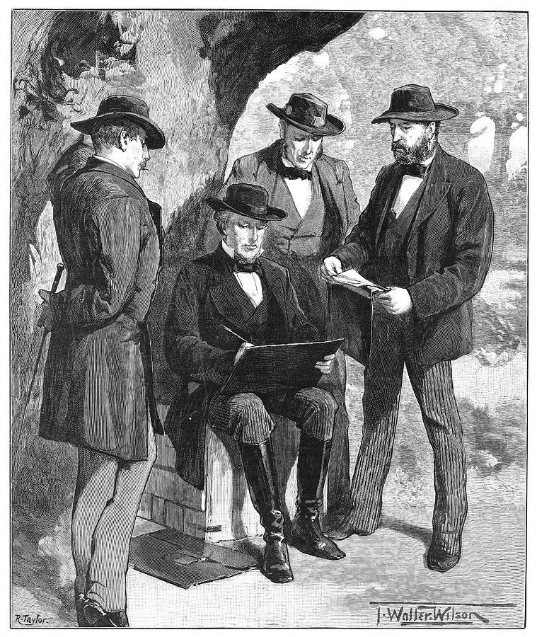 1860 Painting - Jefferson Davis (1808-1889) by Granger