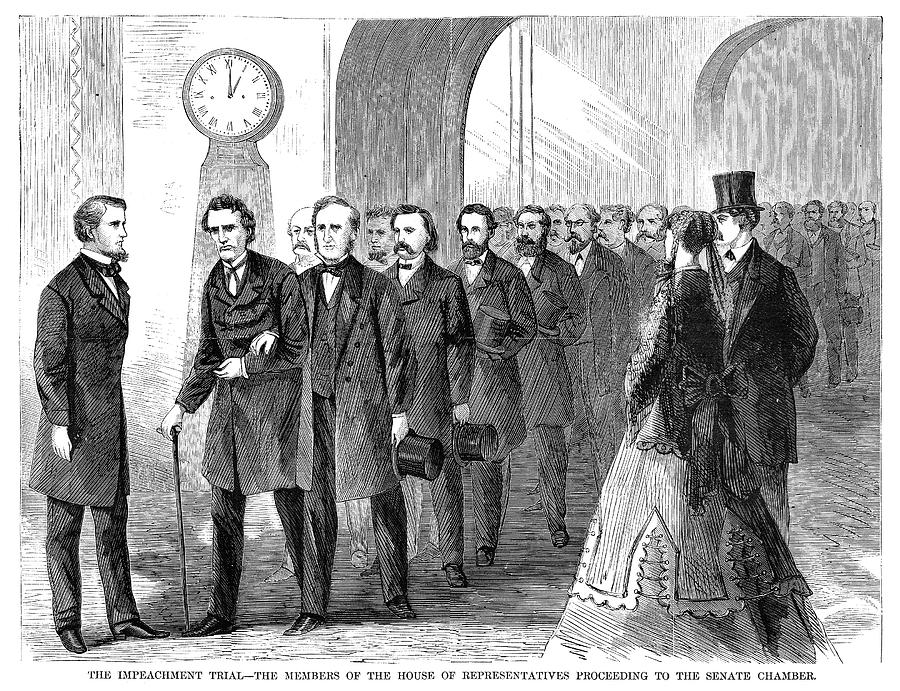 1868 Painting - Johnson Impeachment, 1868 by Granger