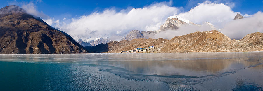 Color Image Photograph - Lake With Mountains In The Background by Panoramic Images
