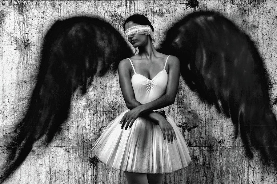 Angel Photograph - N/t by Paulo Medeiros