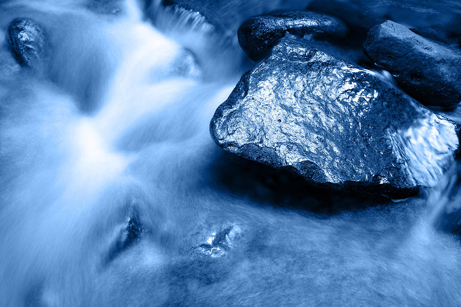 Blue Photograph - Stream by Les Cunliffe