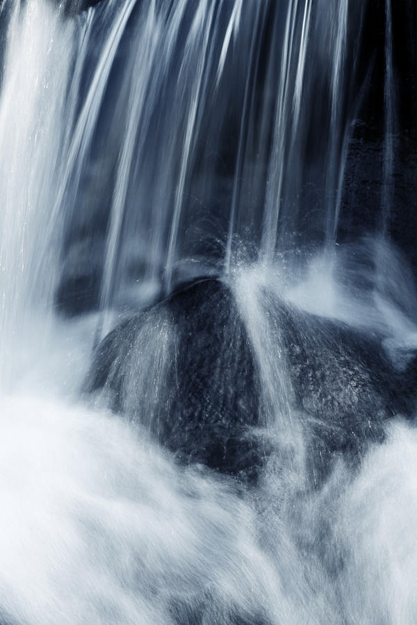 Rock Photograph - Waterfall by Les Cunliffe