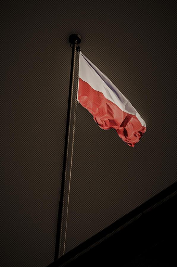 Flag Photograph - 11.11 National Polish Independence Day by Adam Budziarek