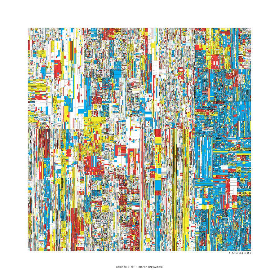Pi Digital Art - 111469 Digits Of Pi by Martin Krzywinski