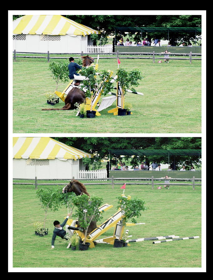 Equitation Photograph - 111708-3    Disaster by Mike Davis