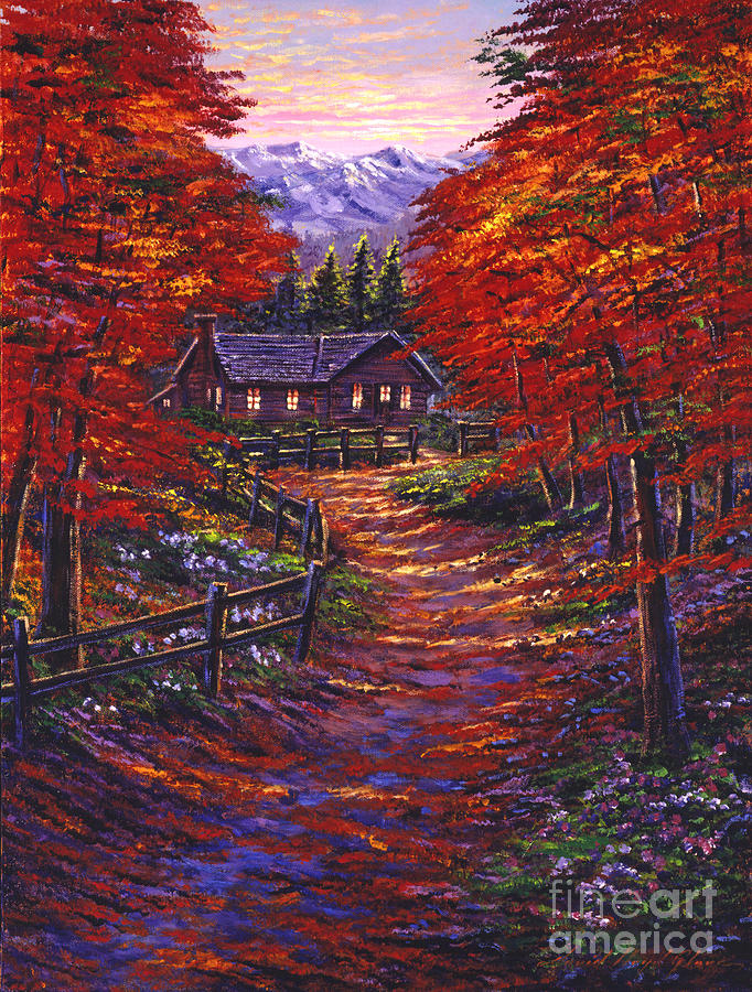 Landscape Painting - 1133 Friendly House by David Lloyd Glover