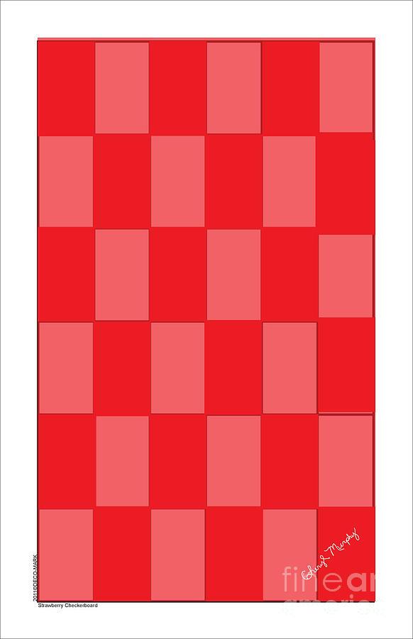 118 Strawberry Checkerboard by Cheryl Turner