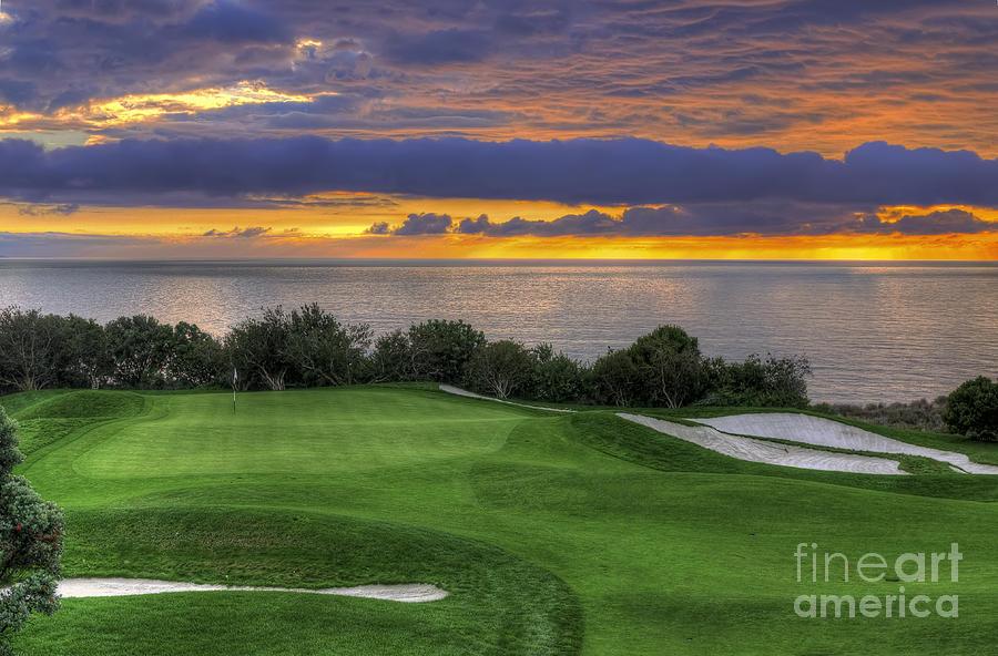 Golf Photograph - 11th Green - Trump National Golf Course by Eddie Yerkish