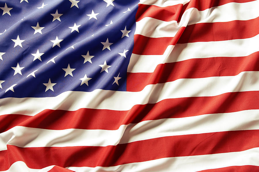 Abstract Photograph - American Flag by Les Cunliffe