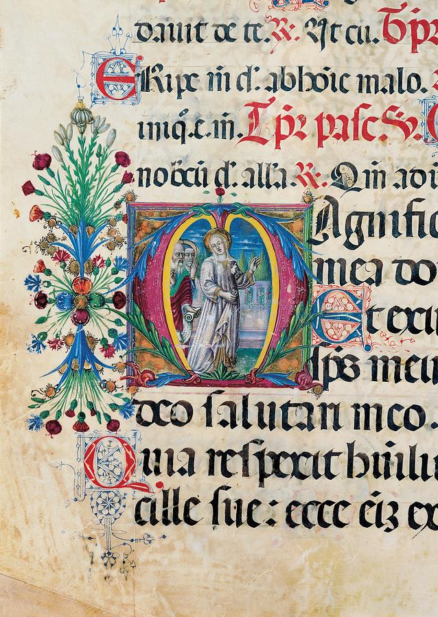 Detail Photograph - Anonymous Sienese Painter, Psalter by Everett