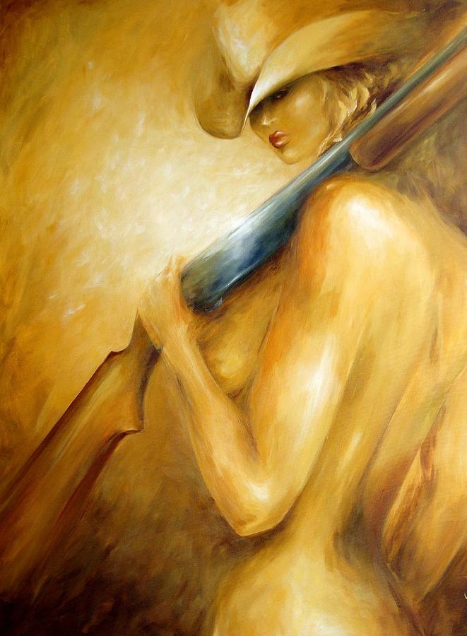 Woman Painting - 12 Gauge by Dina Dargo