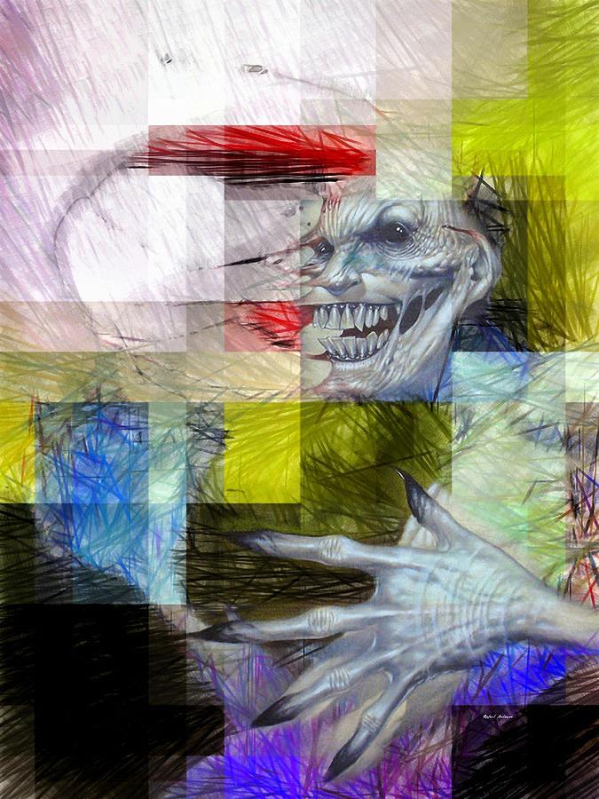 Halloween Digital Art - Halloween Mask by Rafael Salazar