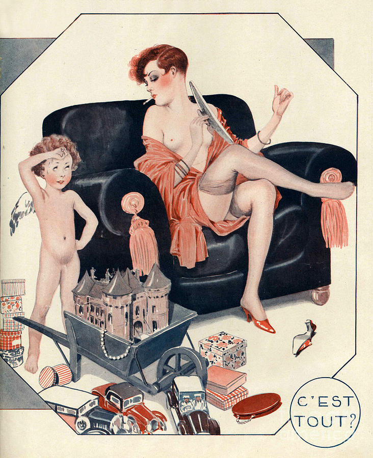 1920s Drawing - La Vie Parisienne 1927 1920s France Cc by The Advertising Archives