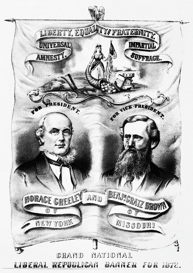1872 Painting - Presidential Campaign, 1872 by Granger