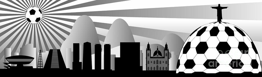 Brasil Digital Art - Rio De Janeiro Skyline by Michal Boubin