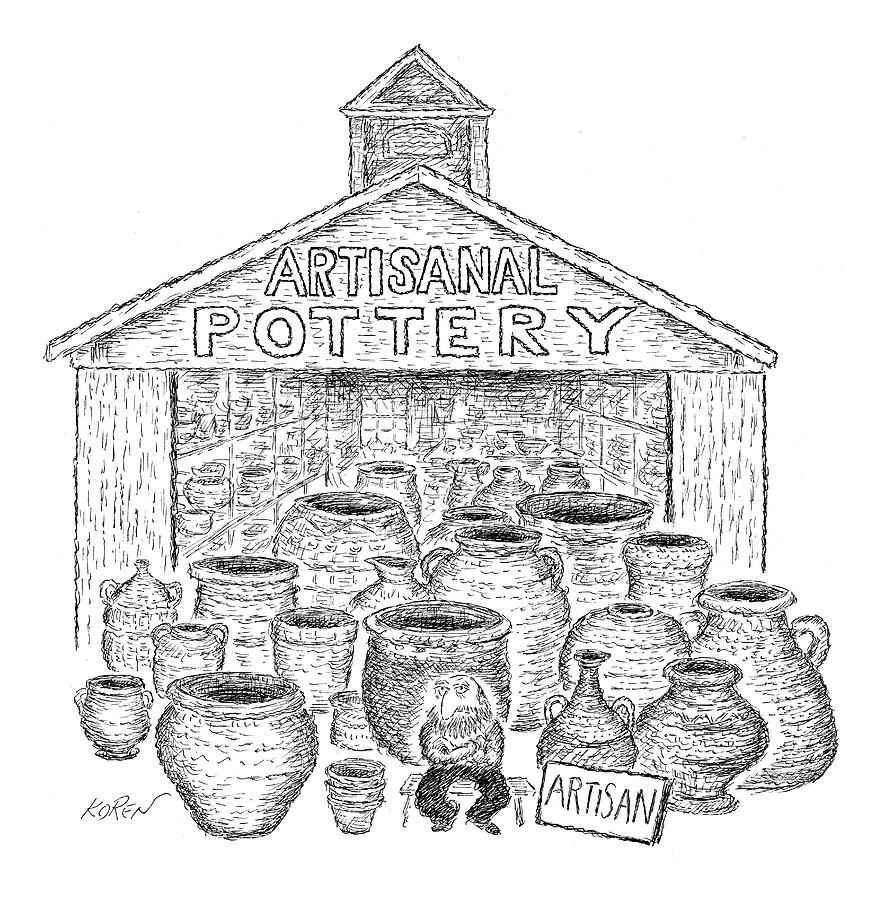 Artisanal Pottery Drawing by Edward Koren