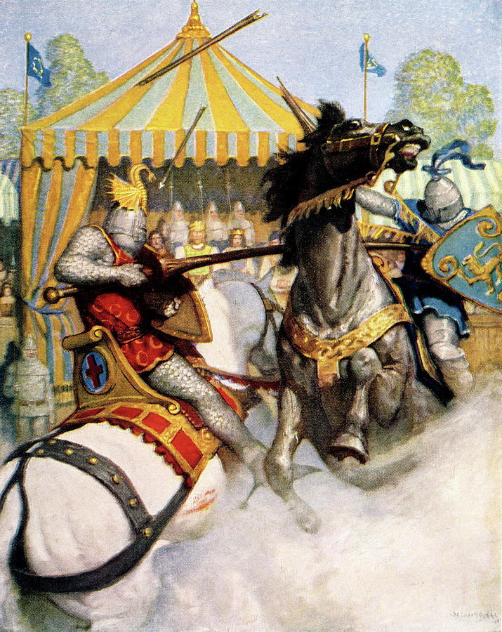 1200s Two Jousting Medieval Knights Painting by Vintage Images