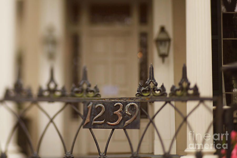 New Orleans Photograph - 1239 Gate by Heather Green