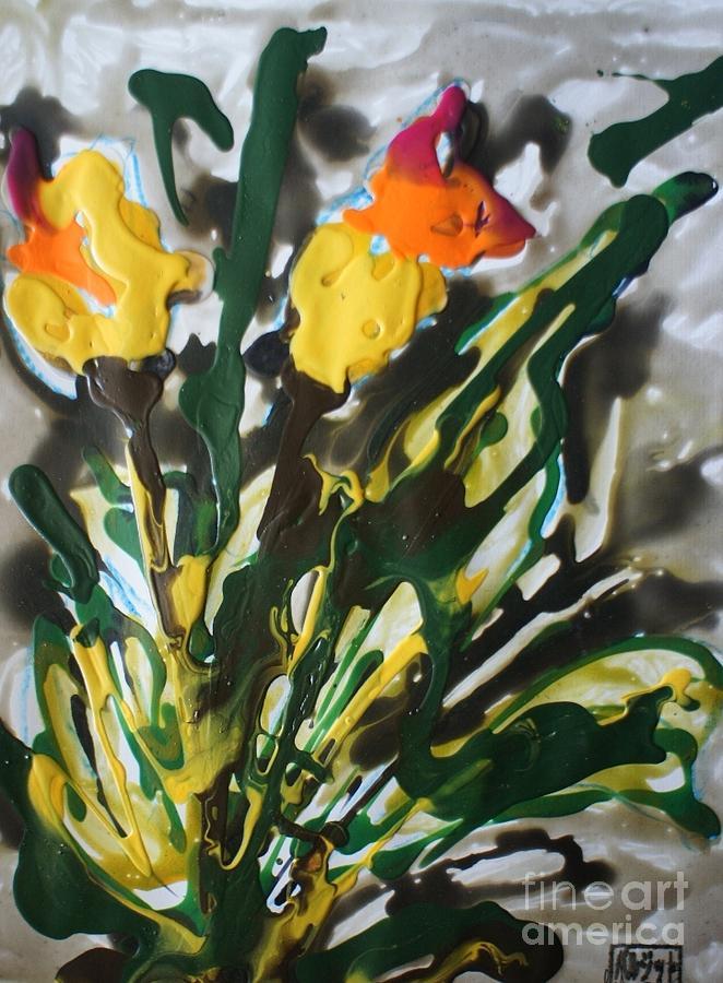 Flowers Painting - Zenmoksha Flowers by Baljit Chadha