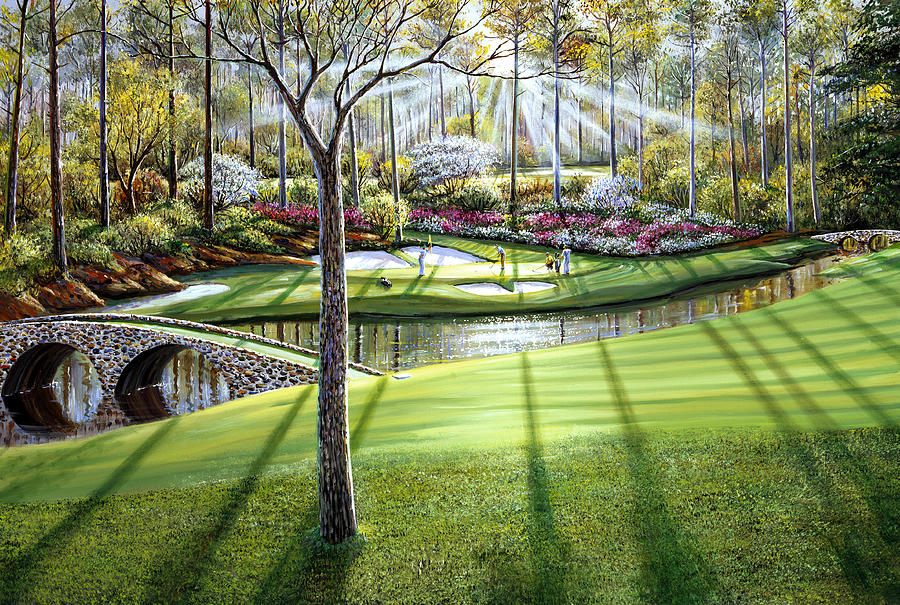 12th At Augusta National Painting By Raymond Sipos