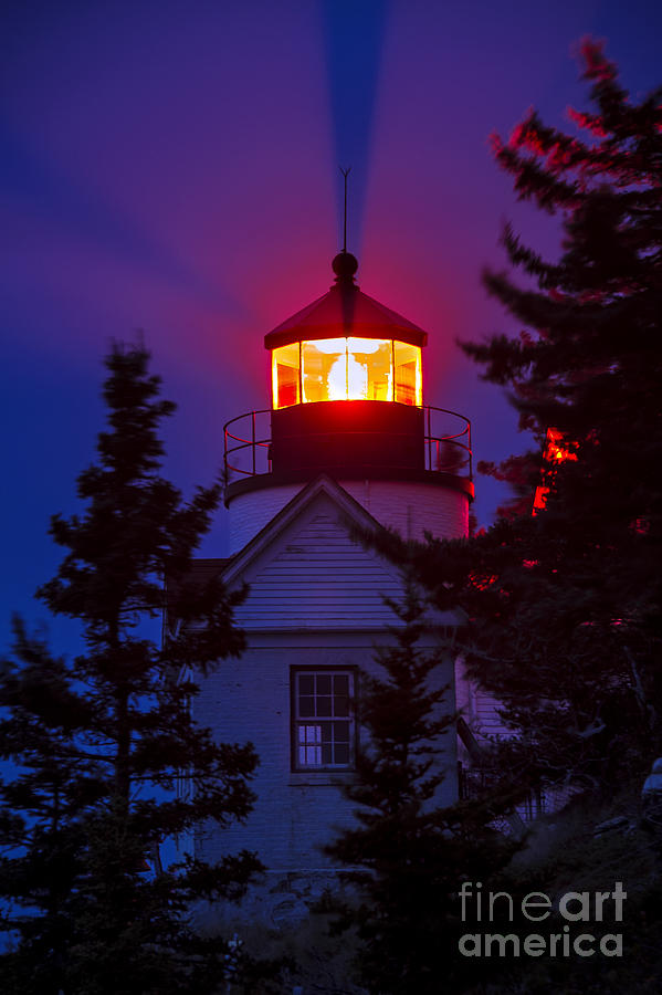 Bass Harbor Photograph - Bass Harbor Lighthouse by John Greim