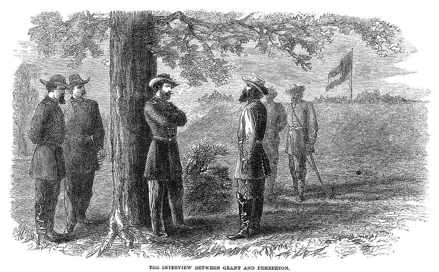1863 Painting - Civil War Vicksburg, 1863 by Granger