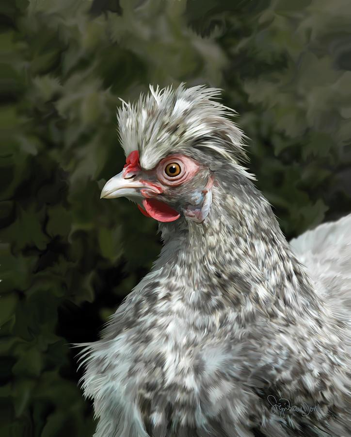 Chicken Digital Art - 13. Cuckoo Hanno by Sigrid Van Dort
