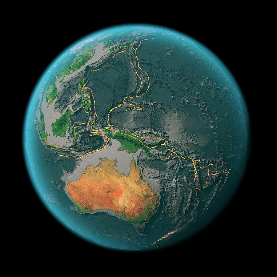 Earth Photograph - Global Tectonics by Karsten Schneider/science Photo Library