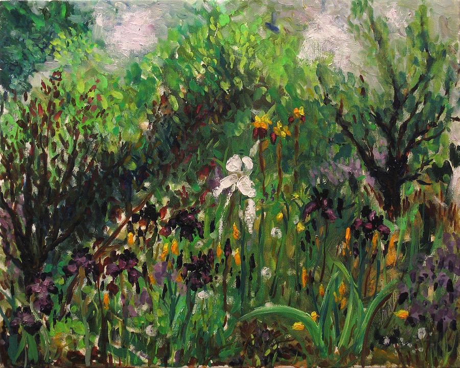 Irises Painting - Irises by Vladimir Kezerashvili