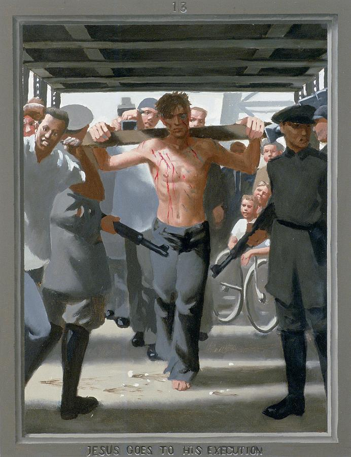 Jesus Painting - 13. Jesus Goes to His Execution / from The Passion of Christ - A Gay Vision by Doug Blanchard