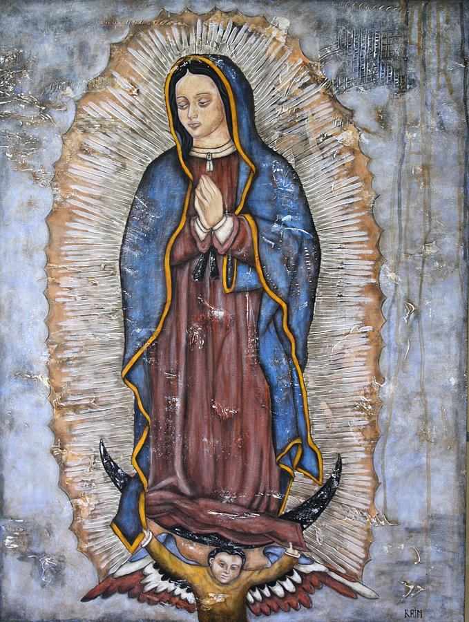 Our Lady Of Guadalupe Paintings Painting - Our Lady Of Guadalupe by Rain Ririn