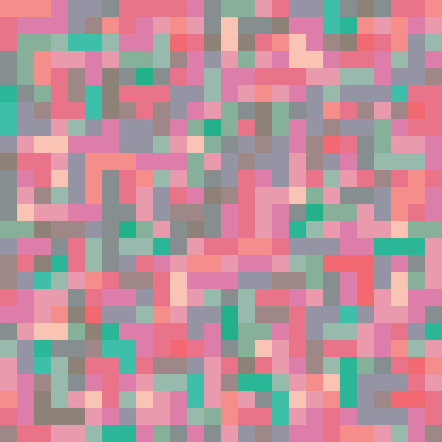 Abstract Digital Art - Pixel Art by Mike Taylor