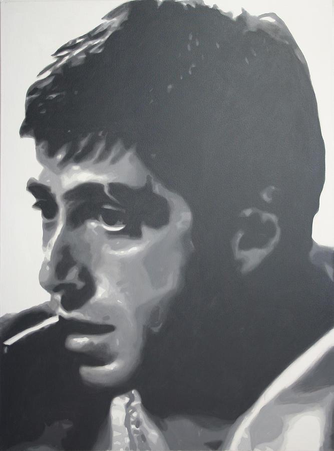 Ludzska Painting - Scarface by Luis Ludzska