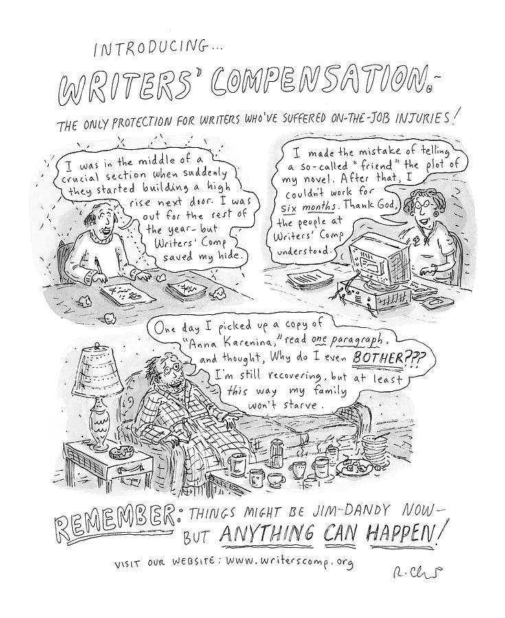 Writers Compensation Drawing by Roz Chast