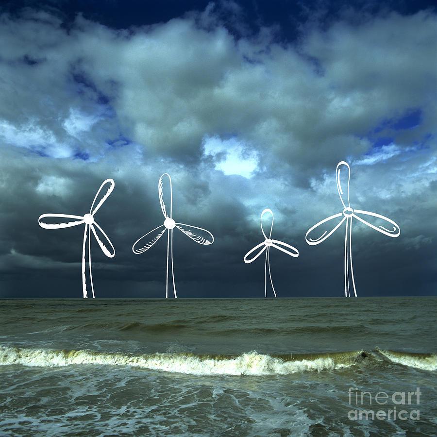 Picture Photograph - Wind Turbine by Bernard Jaubert